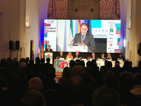 La Confederación de Empresarios de Andalucía conmemora en Antequera el 40 aniversario de su constitución